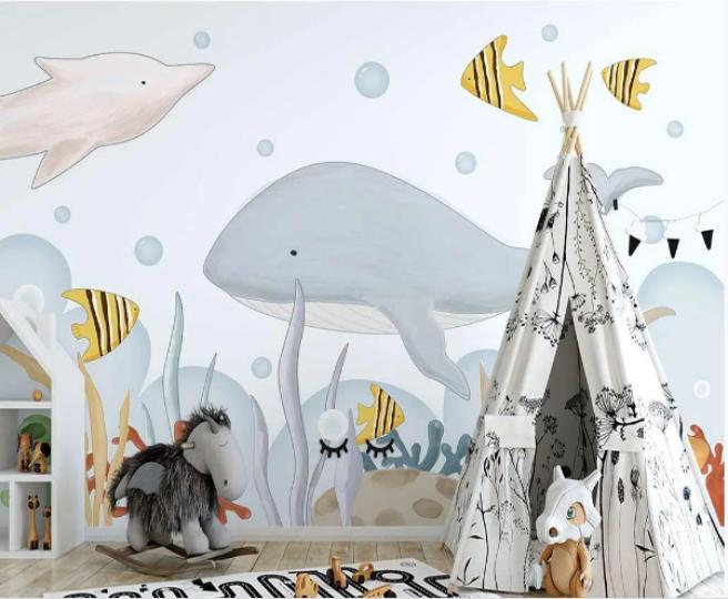 Фотообои подводный мир глазами малыша