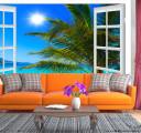 Фотообои пальма за окном