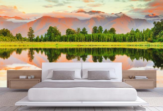Фотообои Лес через озеро