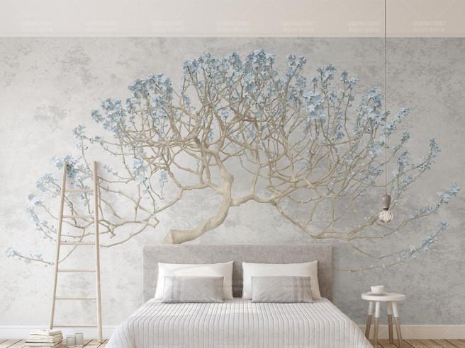 Фотообои Голубая ветка дерева