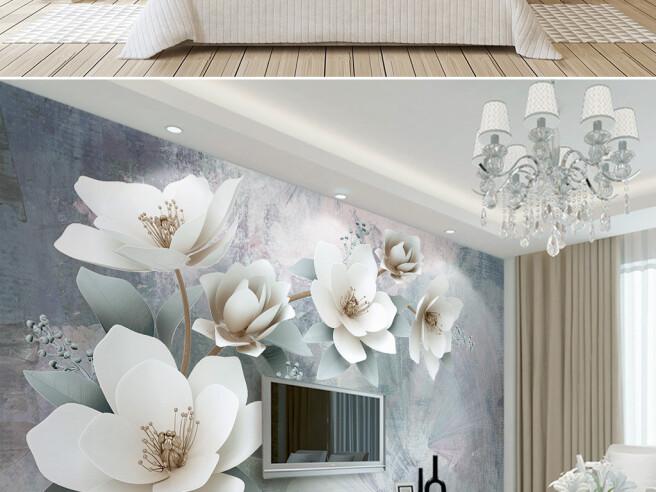 Белые цветы на веточке