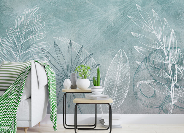 Нарисованные листья