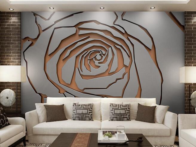 Фотообои Рельефная роза