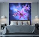 Фотообои орхидеи на синем