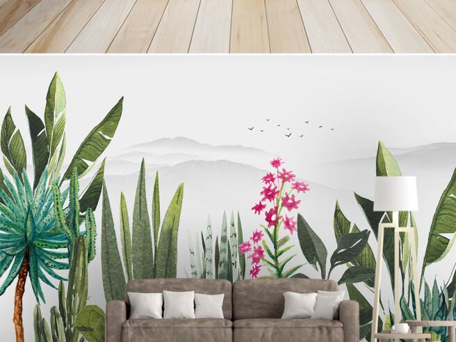 Фотообои Цветущие джунгли