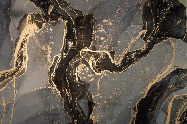 Фотообои черное золото флюид