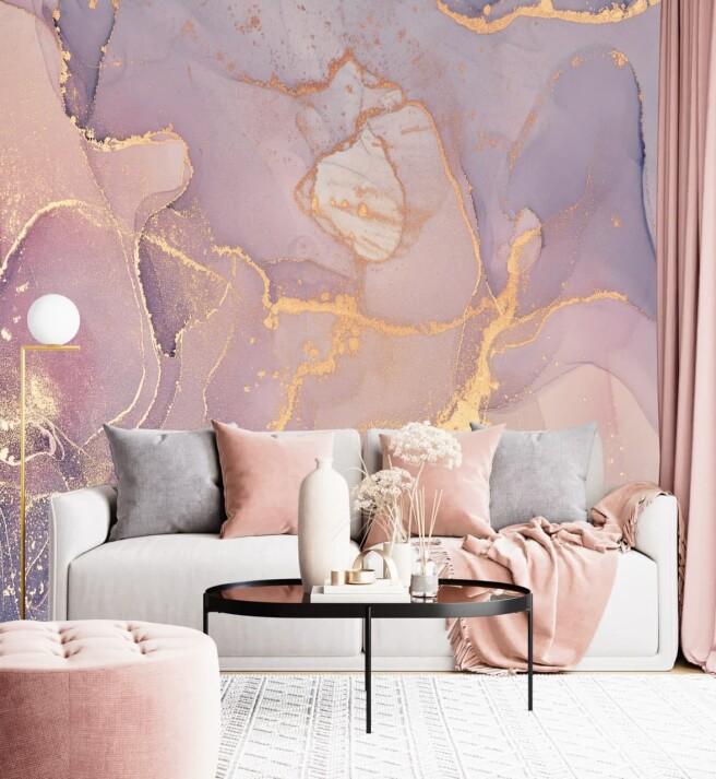 Фотообои нежно розовый флюид