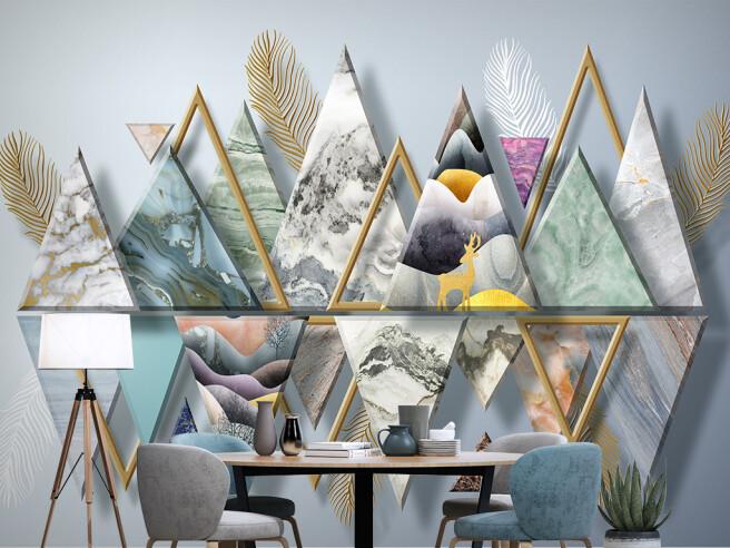 Фотообои Треугольники в отражении