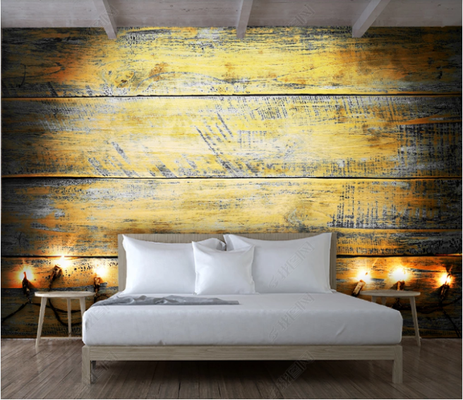 деревянная стена с фонарями