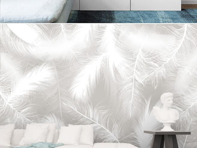 Фотообои Белоснежные перья
