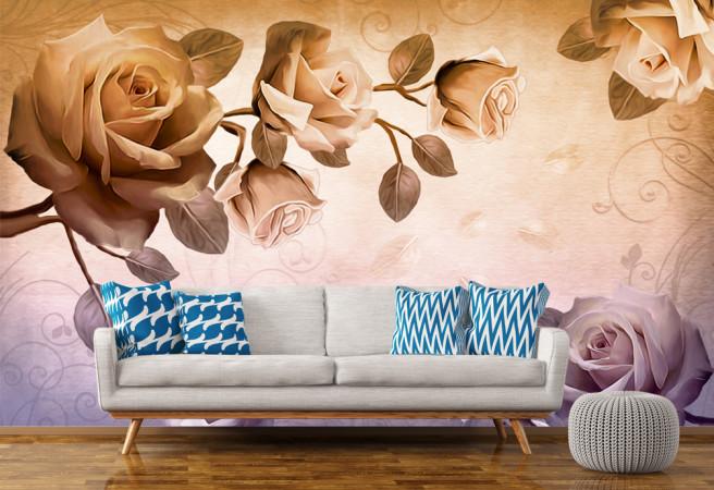 Фотообои ветка роз