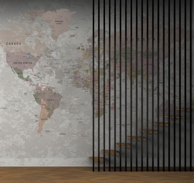 Фотообои дизайнерская карта мира