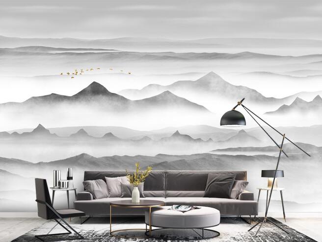 Фотообои Вершины гор в облаках