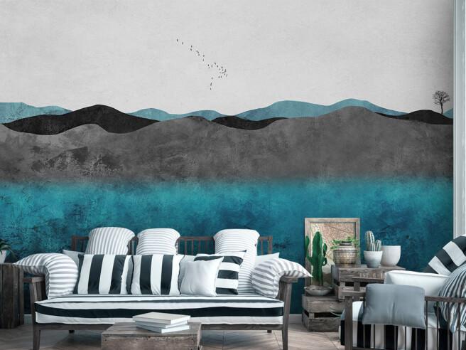 Фотообои Пасмурные горы