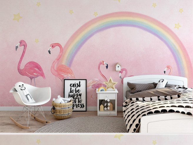 Фламинго и радуга
