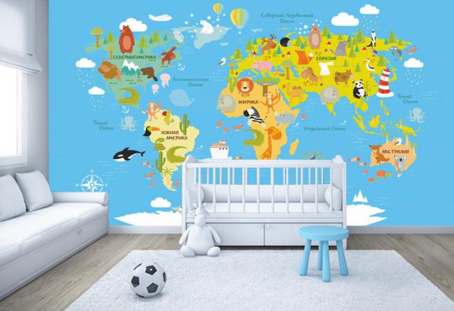 Фотообои карта мира 1