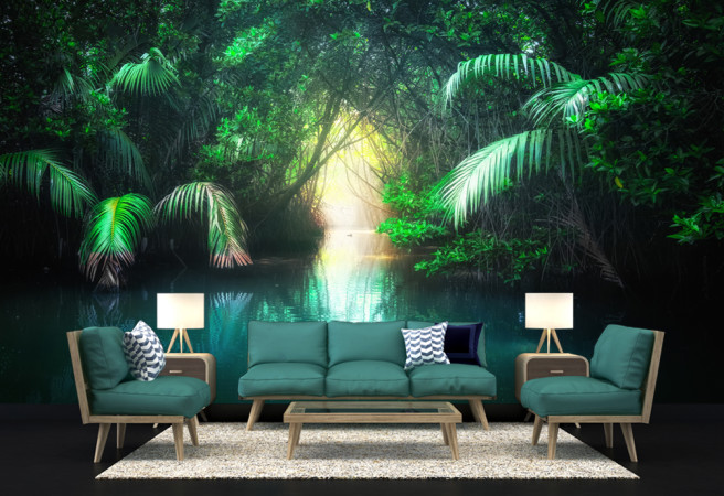 Фотообои в джунглях амазонки