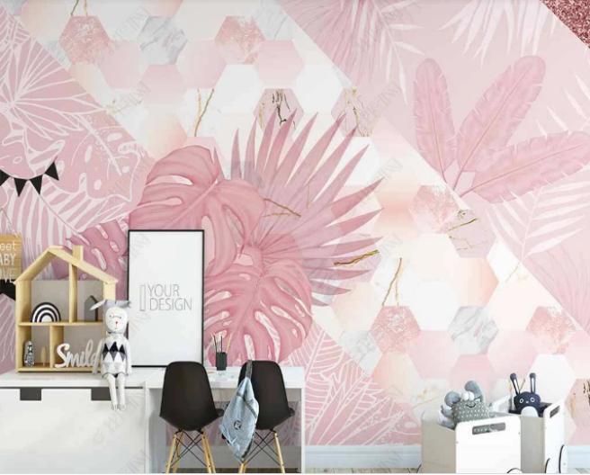 Фотообои розовые тропики