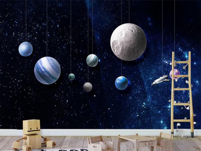 Фотообои Планеты на ниточках