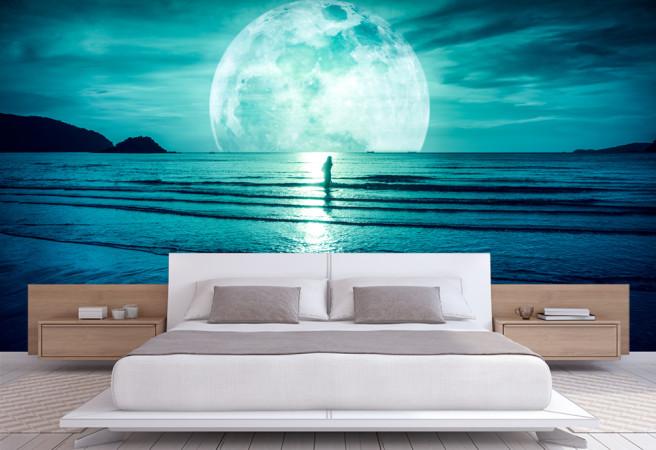 Фотообои Луна на море