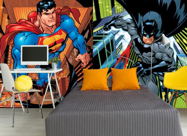 супер мен и бэтмен
