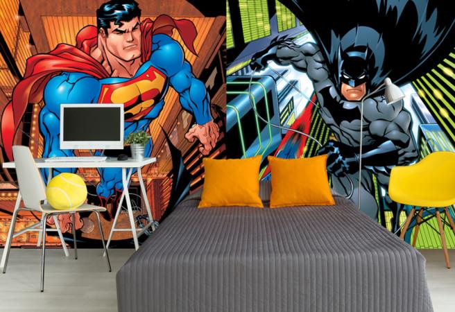 Фотообои супер мен и бэтмен