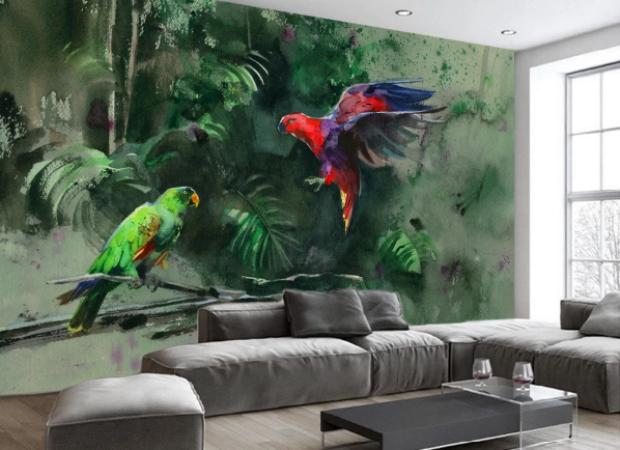 попугаи в джунглях