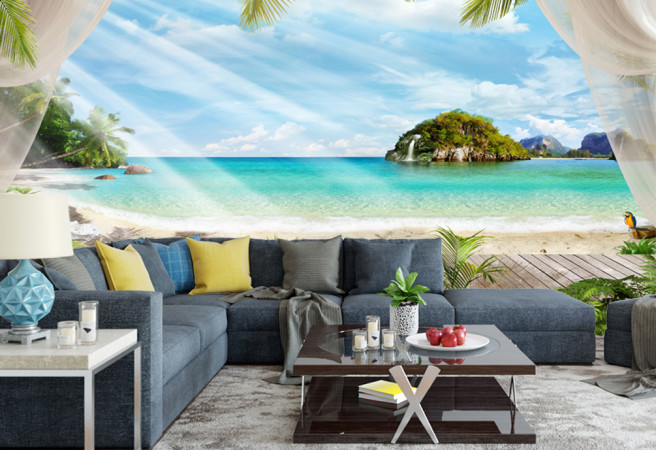 Фотообои Бунгало на пляже