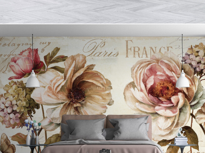Фотообои Цветы в Париже