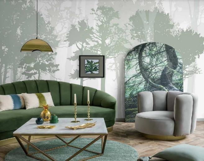 светло-зеленый лес