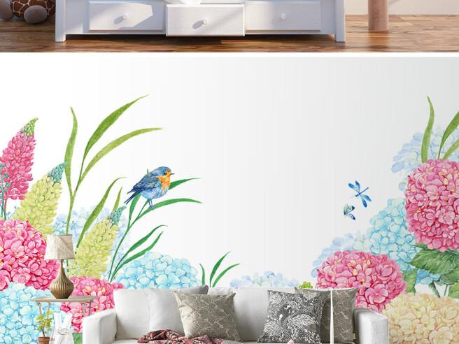 Фотообои Синичка на цветке