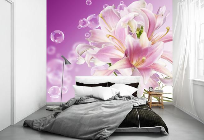 Фотообои фиолетовая лилия