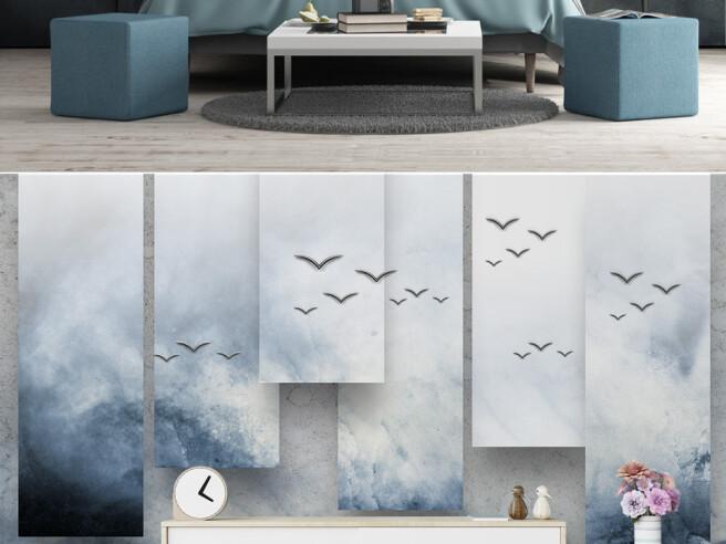 Фотообои Птицы на небесных дощечках