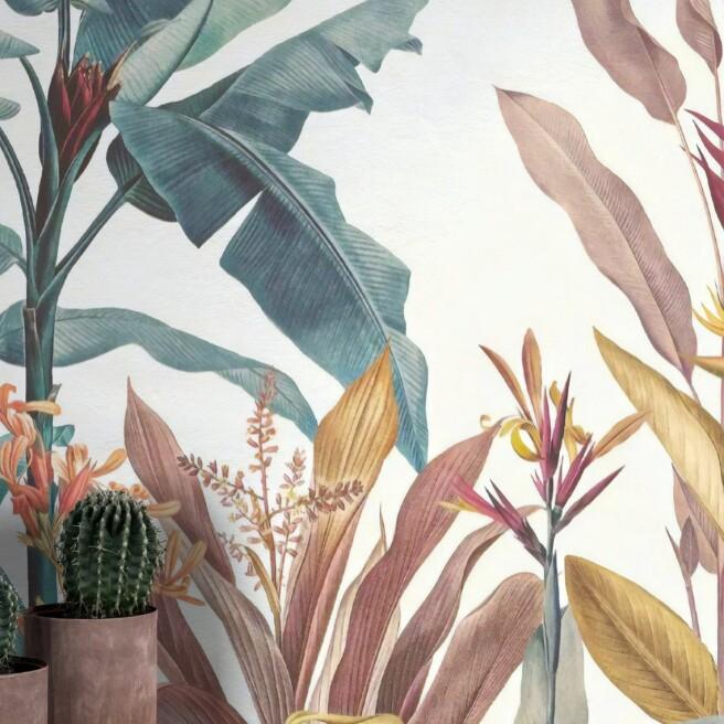 Фотообои нежные разноцветные тропики