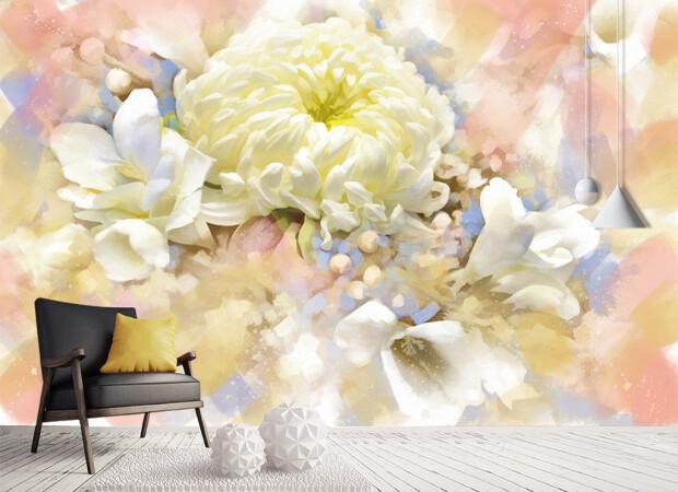 Цветок в пастельных тонах