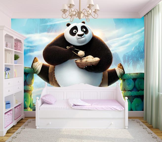 Фотообои Кунг-фу панда и пирожки