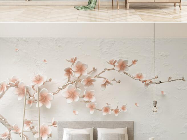 Фотообои Пастельная веточка цветов
