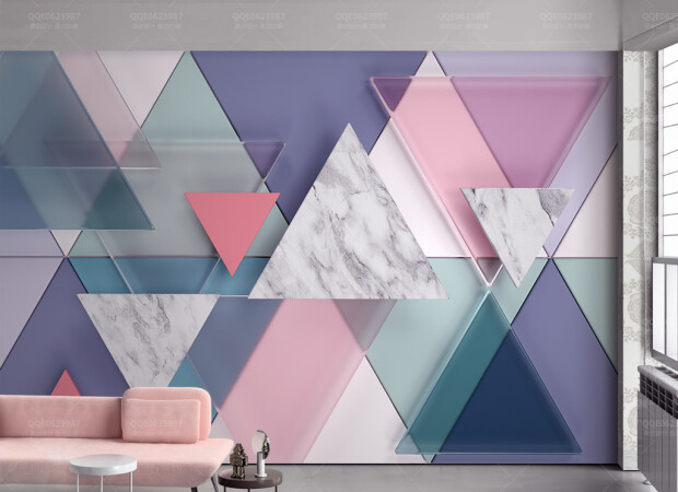 Стеклянная мраморная мозаичная стена