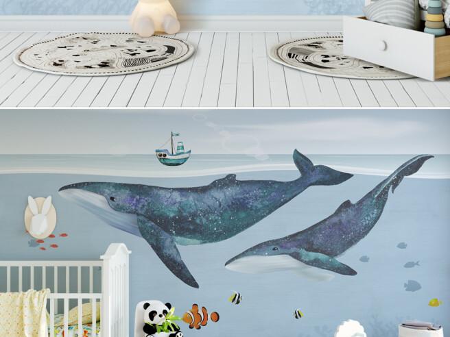 Фотообои Киты под кораблем