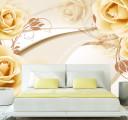 Фотообои кофейные розы