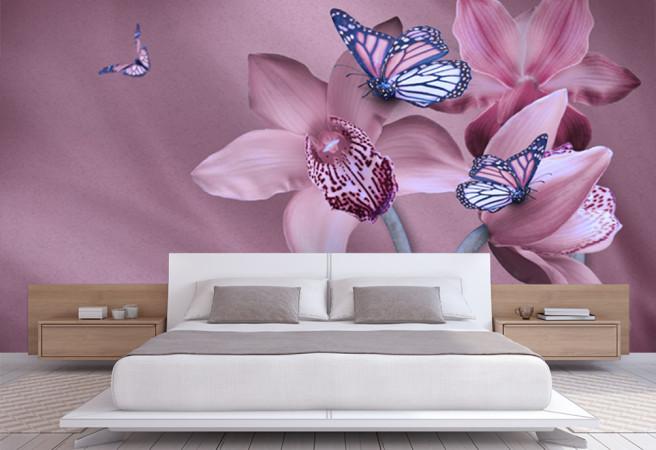 орхидеи и бабочки