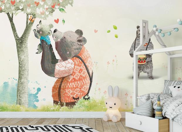 Медведи и бабочка