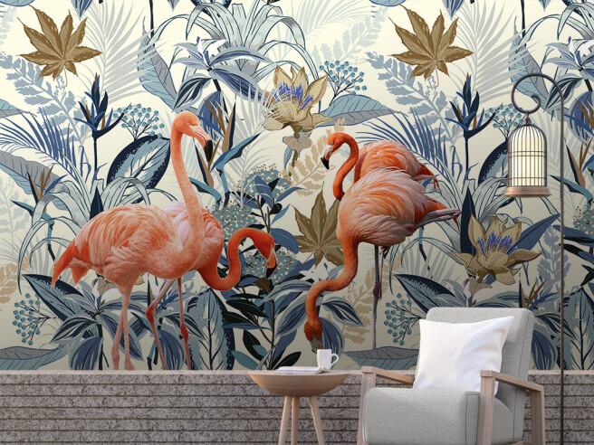 Алые фламинго
