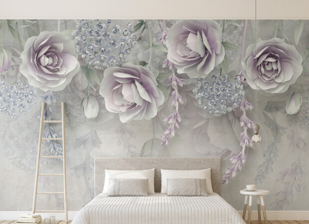 Светло-фиолетовые розы