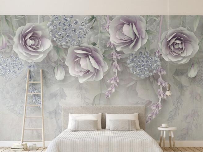 Фотообои Светло-фиолетовые розы