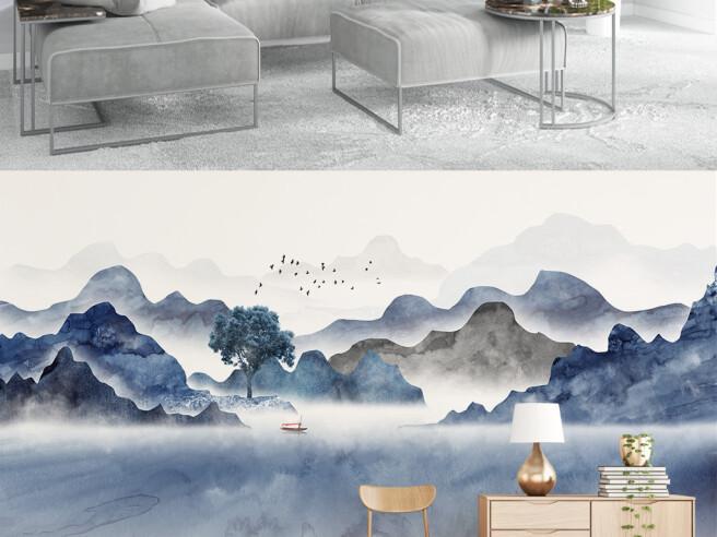 Фотообои Озеро в дымке