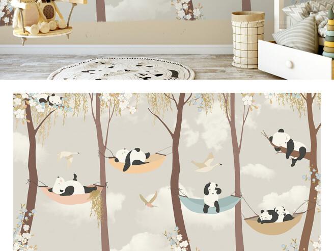 Панды на гамаках
