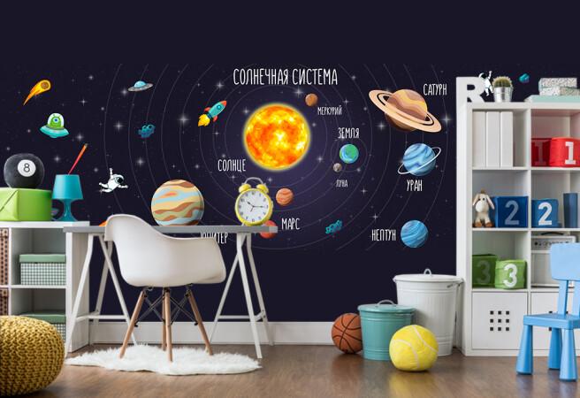 Фотообои солнечная система в детскую