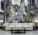 Фотообои венеция в гостиной