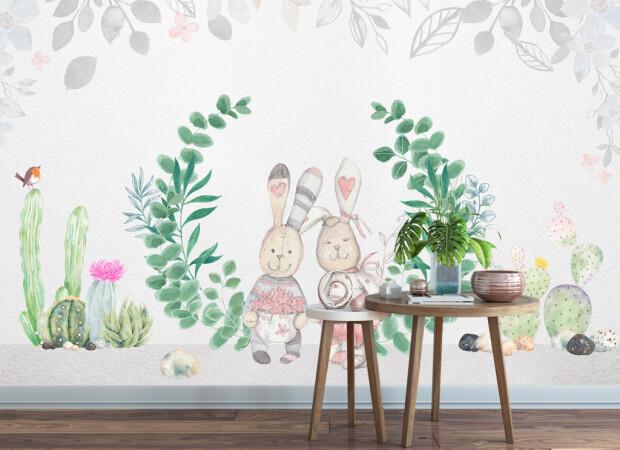 Влюбленные зайцы и кактусы